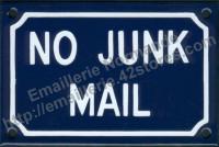 Plaque émaillée (10x15cm) No junk mail