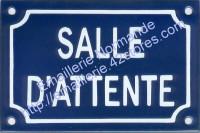 Plaque émaillee (10x15cm) Salle d'attente