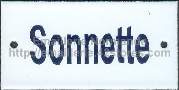 Plaque maill e 6x12cm sonnette emaillerie normande fabricant fran ais de plaques maill es - Sonnette mecanique de porte ...