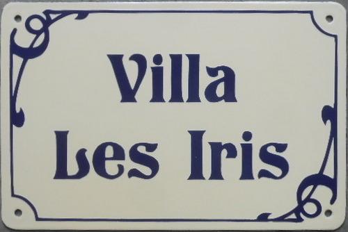 Plaque De Villa émaillée 20x30 écriture Ti