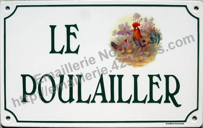 Plaque Emaillee Decorative Exterieure
