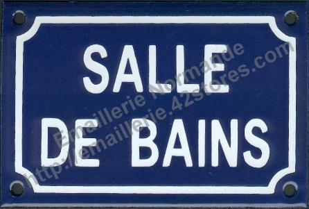 Panneau pancarte plaque acier maill humoristique salle for Plaque de salle de bain
