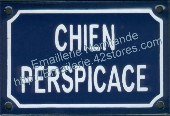 plaque maill e chien perspicace emaillerie normande. Black Bedroom Furniture Sets. Home Design Ideas